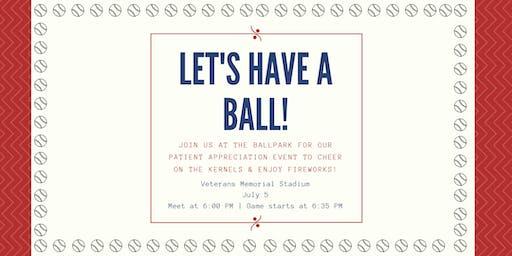 Patient Appreciation Event: Kernels Baseball Game