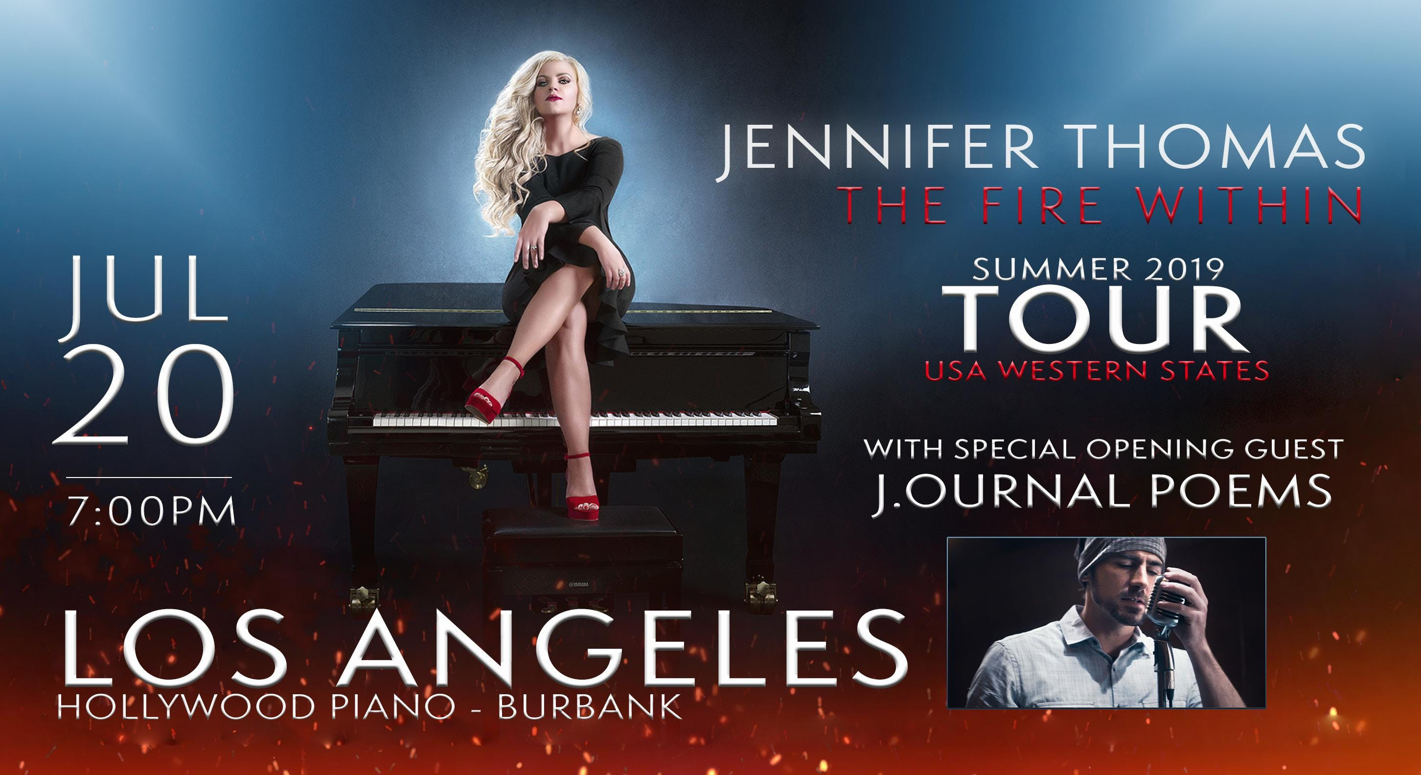 Jennifer Thomas -The Fire Within Tour (Los Angeles, CA) Ft. J.ournal Poems