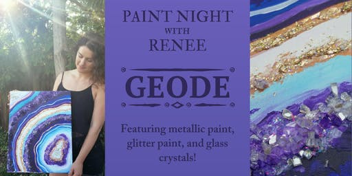 Geode Paint Night at The Grand Piano Ballroom