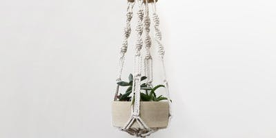 Macrame Plant Hanger and Succulent Arrangement - with Susan Clark (PM)