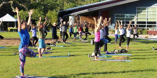 1st Sunday Yoga on the Lawn at OM