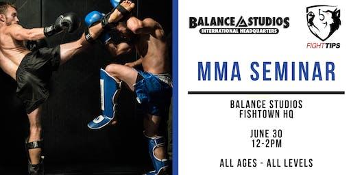 FIGHTTIPS MMA Seminar at Balance Studios