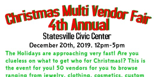 4th Annual Christmas Multi Vendor Fair
