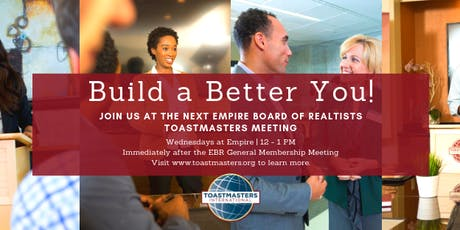 Empire Board of Realtists Inc. Toastmasters Club Meeting tickets