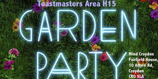 Toastmasters Area H15 Garden Party