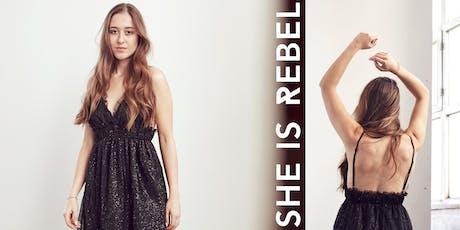 SHE IS REBEL Fashion Pop-up Shop billets