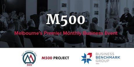 M500 June 2019 - Melbourne's Premier Monthly Business Event tickets