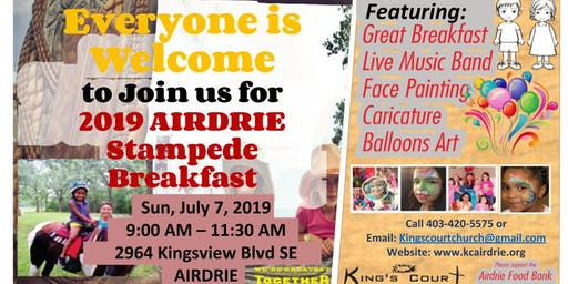 2019 King's Court Church Stampede Breakfast