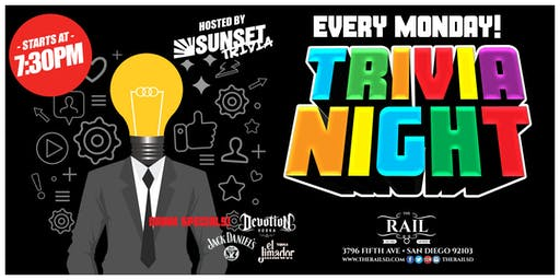 Trivia Night On Mondays!