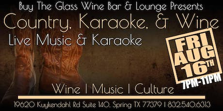 Country Karaoke & Wine | Buy the Glass Wine Bar tickets