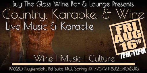 Country Karaoke & Wine | Buy the Glass Wine Bar