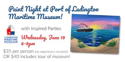 Sailing at Sunset - Paint Night at Port of Ludington Maritime Museum!