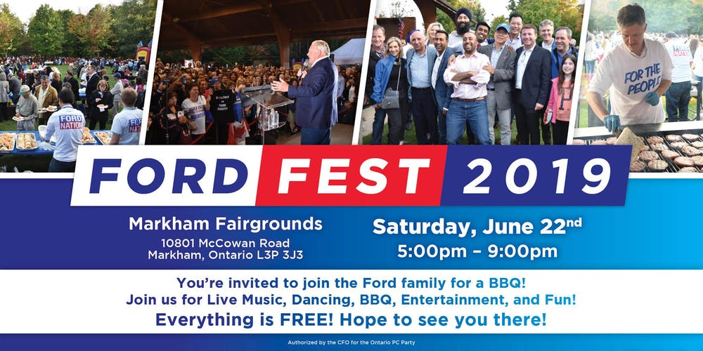 [Doug Ford]Markham - June 22. Ford Fest