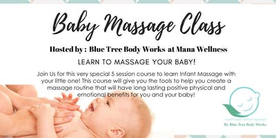 Baby Massage Class! Ages 1 month - 12 months