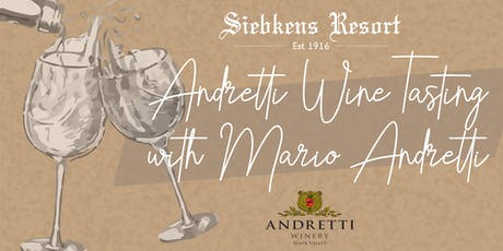 Andretti Wine Tasting with Mario Andretti tickets