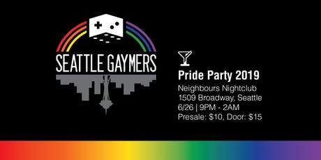 Seattle Gaymers Pride Party 2019 tickets