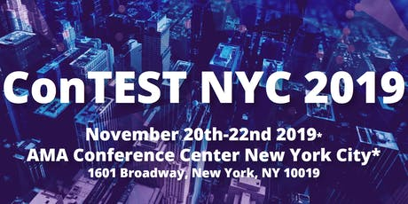 TestMasters ConTEST NYC 2019 tickets