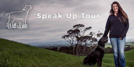 Will to Live's 2019 Speak Up Tour - KUROW, North Otago tickets