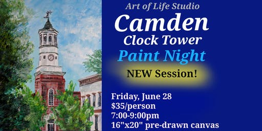 Paint Night: Camden Clock Tower (NEWEST SESSION)