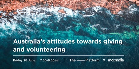 Australia's attitudes towards giving and volunteering tickets