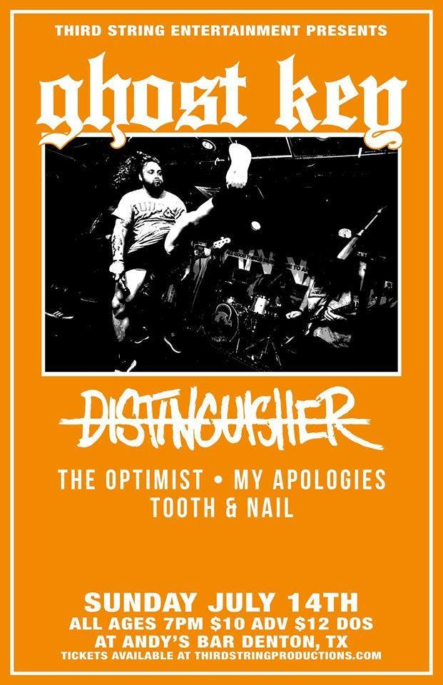 Ghost Key, Distinguisher, My Apologies, The Optimist, Tooth & Nail