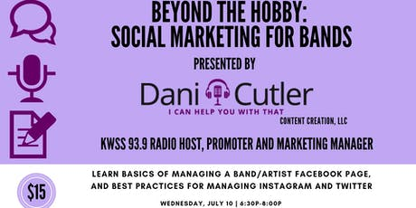 Beyond The Hobby: Social Marketing For Bands tickets
