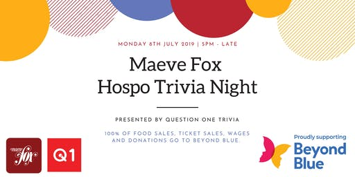 Maeve Fox's Hospo Trivia Night