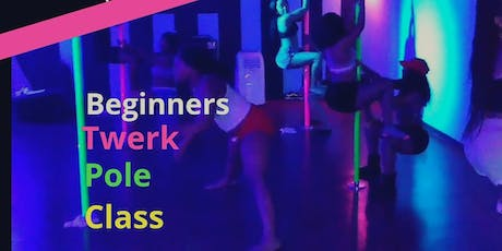$ 5 Happy Hour Pole N Twerk Class / Beginners tickets