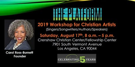 The 2019 Platform Workshop for Christian Artists & Artist Showcase tickets