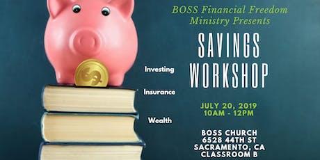 Free Savings Workshop: Wealth Building tickets