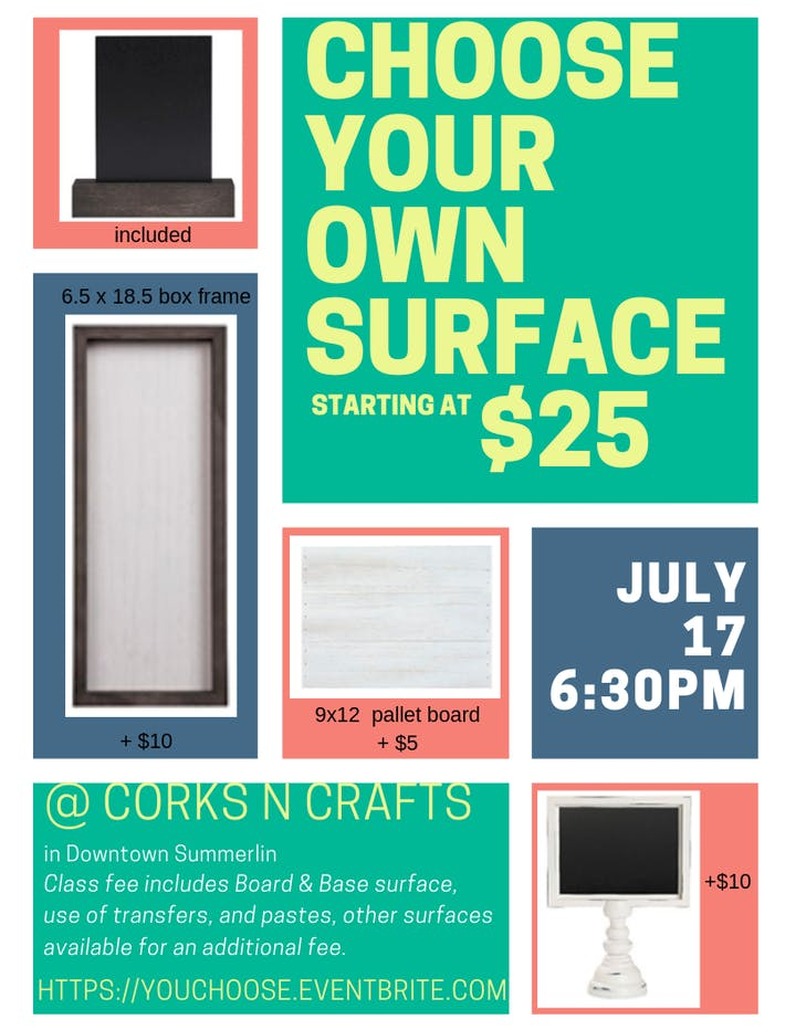 Choose Your Own Chalk Couture Surface Tickets, Wed, Jul 17, 2019 at on