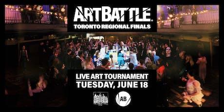 Art Battle Toronto Regional Finals! - June 18, 2019 tickets
