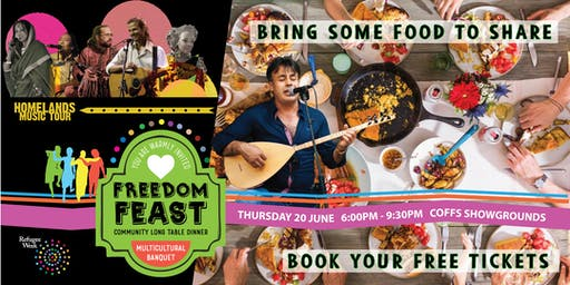 Freedom Feast 2019 - community long table dinner for Ref-YOU-gee Week