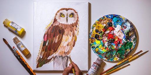 CANCELED Painting Workshop - Owls in Petrykivka Technique -Redmond WA, June 16