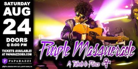 PRINCE TRIBUTE Purple Masquerade LIVE at Paparazzi OBX! tickets