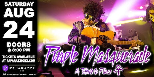 PRINCE TRIBUTE Purple Masquerade LIVE at Paparazzi OBX!