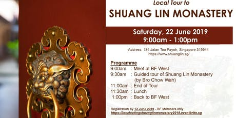 Local Outing to Shuang Lin Monastery tickets