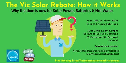 Vic Solar Rebate: How It Works FREE TALK Simon Reid Smart Living Ballarat