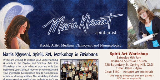 Marie Klement Spirit Artist - Workshop and Private Readings
