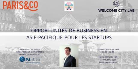 Opportunités de business en Asie-Pacifique pour les startups  billets