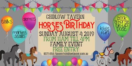 Horses Birthday tickets