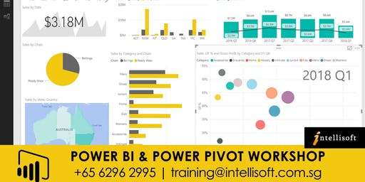 Power BI & Power Pivot Workshop on 16,17 Dec 2019 in Singapore.