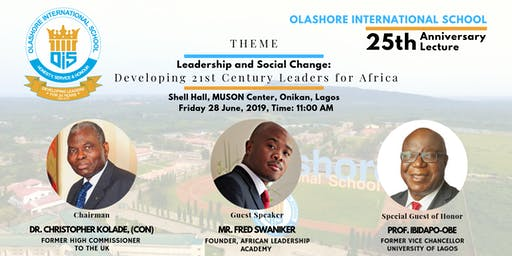 O.I.S 25th Anniversary Lecture: Leadership and Social Change