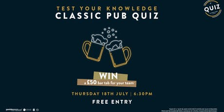 Classic Pub Quiz tickets