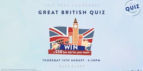 Great British Quiz tickets