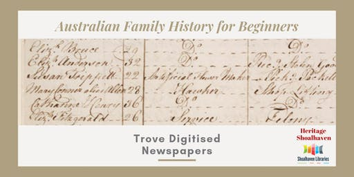 Family History, Trove Digitised Newspapers - Nowra Library