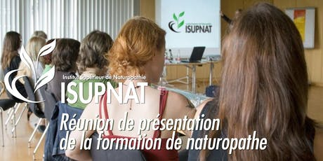 Présentation cursus naturopathie ISUPNAT billets