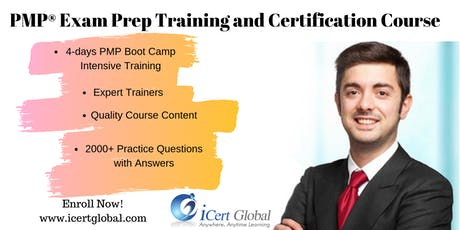 PMP® Exam Prep Training and Certification in Myrtle Beach, SC, USA| 4-day PMP BootCamp Training tickets
