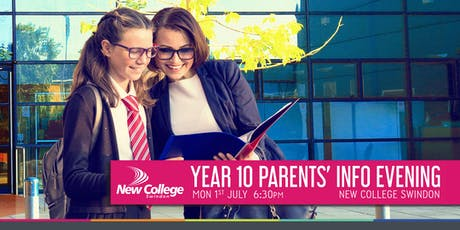 Year 10 Parents' Evening - Monday July 1st 6:30pm  tickets