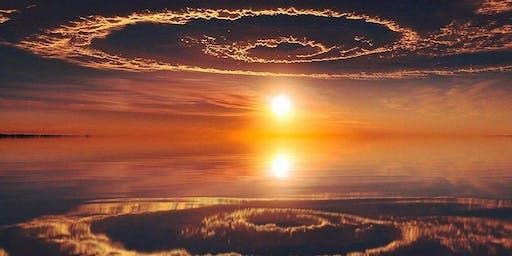 Genieten van de zonsondergang.